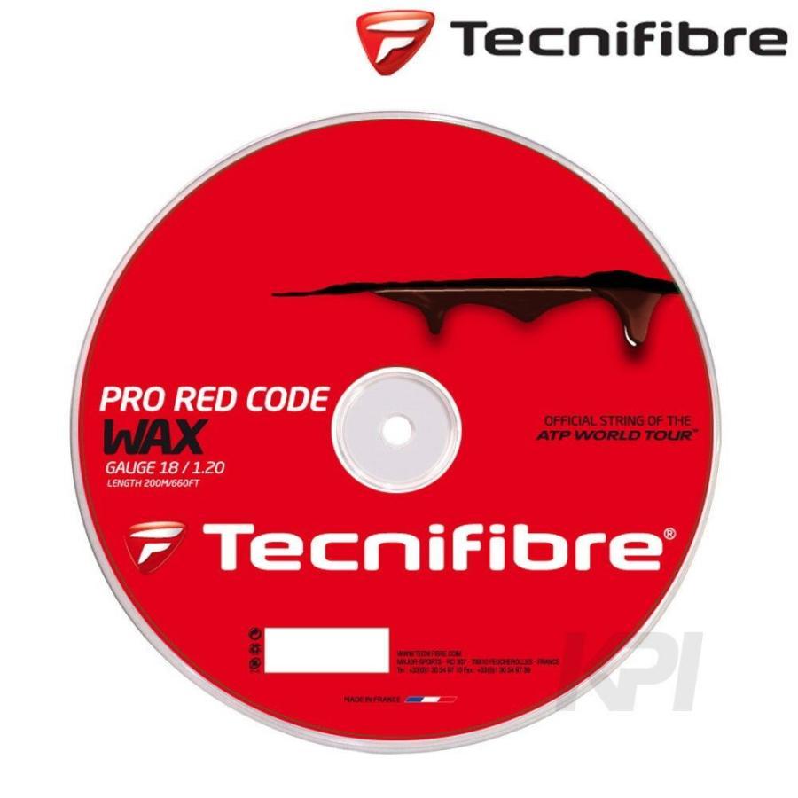 『即日出荷』 Tecnifibre テクニファイバー 「PRO 赤 CODE WAX 1.20 プロレッドコードワックス 200mロール TFR520」硬式テニスストリング ガット