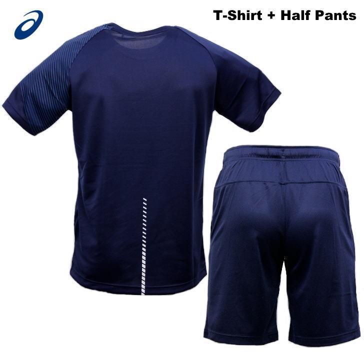 アシックス ジャージ 上下 メンズ トレーニングウェア リモ ランニング Tシャツ 半袖 + ハーフ 2031B203 2031B208 3カラー 吸汗速乾 上下セット|sportsjima|13