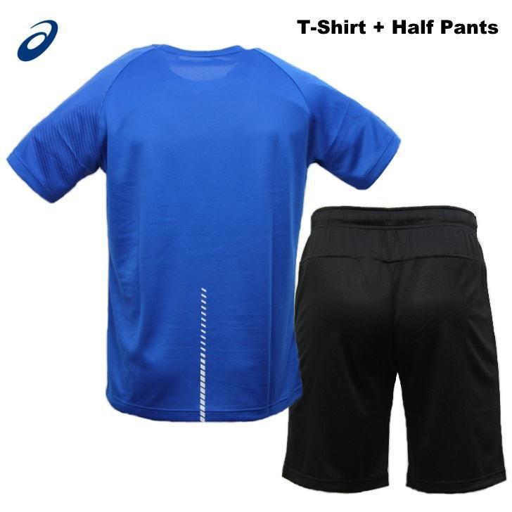 アシックス ジャージ 上下 メンズ トレーニングウェア リモ ランニング Tシャツ 半袖 + ハーフ 2031B203 2031B208 3カラー 吸汗速乾 上下セット|sportsjima|08