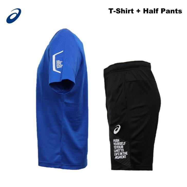 アシックス ジャージ 上下 メンズ トレーニングウェア リモ ランニング Tシャツ 半袖 + ハーフ 2031B203 2031B208 3カラー 吸汗速乾 上下セット|sportsjima|09