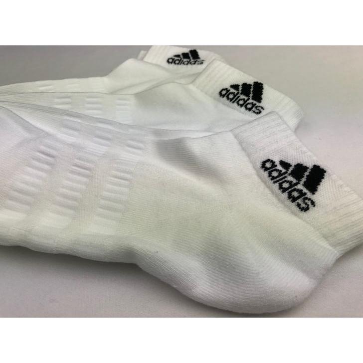 アディダス ソックス メンズ レディース ジュニア 3足組 FXI63 3カラー 靴下 スニーカーソックス ショートソックス adidas ゆうパケット対応|sportsjima|05