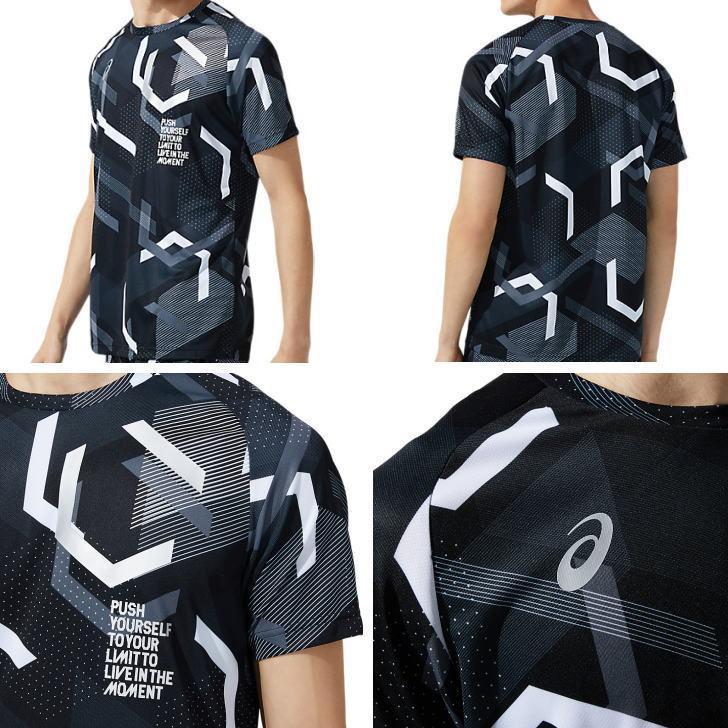 アシックス ジャージ 上下 メンズ トレーニングウェア ランニング LIMO リモ Tシャツ 半袖 + ハーフ 2031C199 2031C191 2カラー 吸汗速乾 上下セット|sportsjima|03