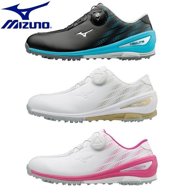 MIZUNO-ミズノ レディース/女性用 NEXLITE 004 Boa - ネクスライト 004 ボア レディースゴルフシューズ/ゴルフシューズ