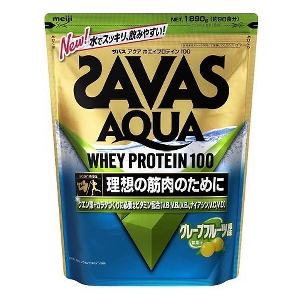 理想の筋肉のために ザバス アクア ホエイプロテイン 100 グレープフルーツ風味 1袋(1890g) SAVAS-ザバス サプリメント/プロテイン