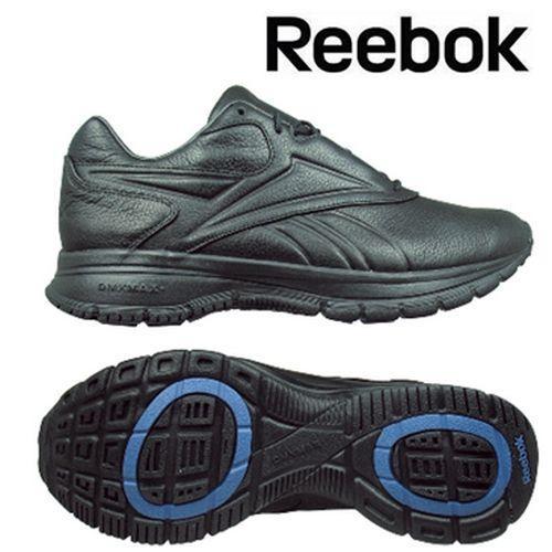 軽くて柔らかい メンズ/男性 DMX MAX プラス レインウォーカー ブラック×ブルー Reebok-リーボック ウォーキングシューズ/スポーツシューズ