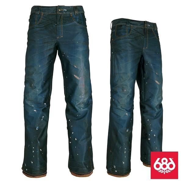 激安SALE JPN DECONSTRUCTED DENIM SHELL Pants Dark Denim Sublimation 686-ロクハチロク 18/19 スノーボードウェア/ジャケット/パンツ 送料無料