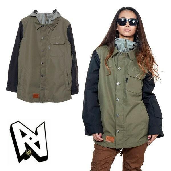 NEWモデル WMS MEEGAN Jacket Khaki/黒 AA-ダブルエー 18/19 スノーボードウェア/ジャケット 送料無料