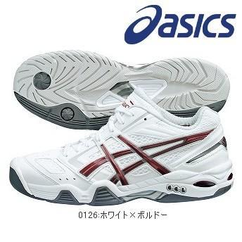 asics-アシックス トップシ−ド I-dual ホワイト×ボルドー ハードコート専用 テニス/ソフトテニスシューズ