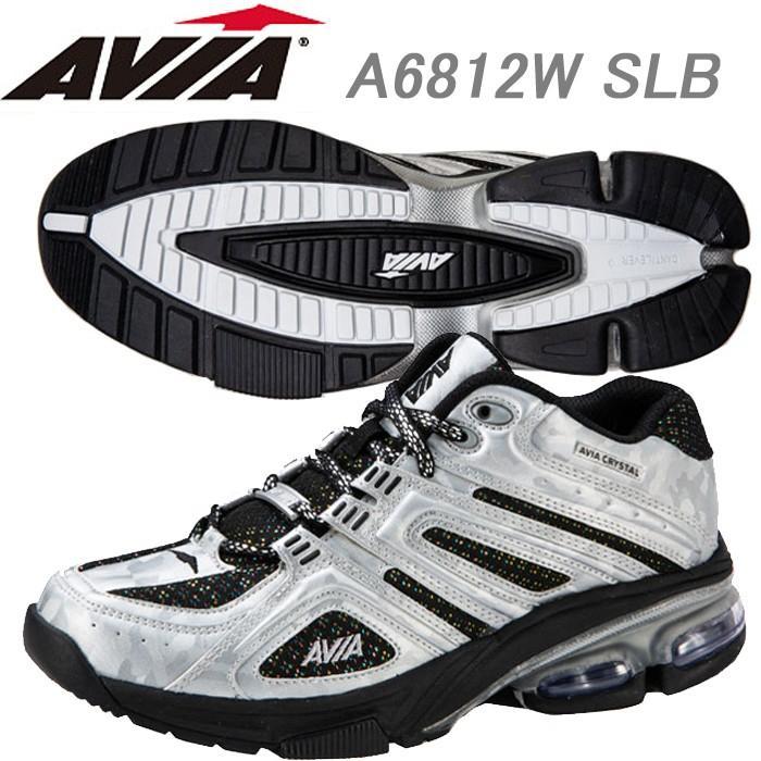 【予約中!】 AVIA フィットネスシューズ A6812W SLB, ももの和 cbc52872