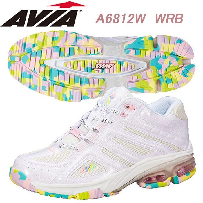 特別オファー AVIA フィットネスシューズ A6812W WRB, RainbowRabbit 91f38478