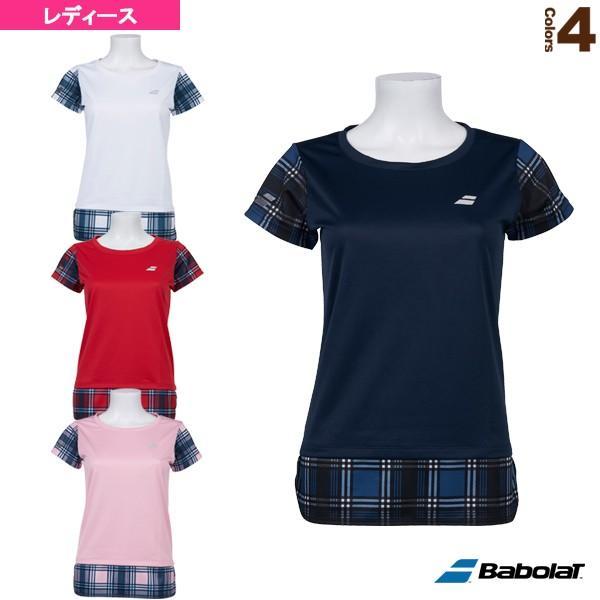 バボラ テニス・バドミントンウェア(レディース) ショートスリーブシャツ/カラープレイライン/レディース(BTWOJA07)