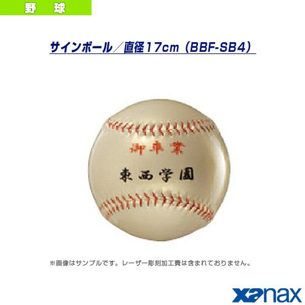 ザナックス 野球アクセサリ・小物 サインボール/直径17cm(BBF-SB4)