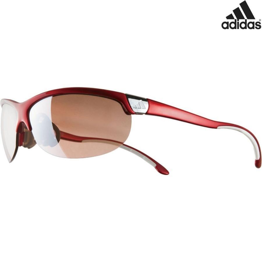 アディダス adidas ランニングサングラス A170 ADIZERO L メタリックレッド A170016065