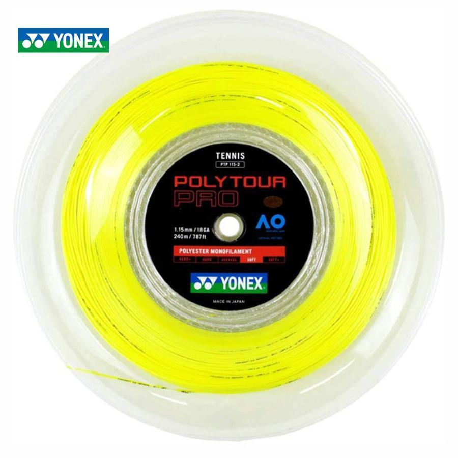 好きに YONEX ヨネックス 「POLY TOUR YONEX PRO 115 ポリツアープロ115 TOUR 115 240mロール PTP115-2」硬式テニスストリング ガット, また壱陶房:79c57b48 --- airmodconsu.dominiotemporario.com