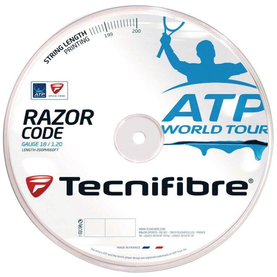 Tecnifibre テクニファイバー 「RAZOR CODE 1.30 レーザーコード1.30 200mロール TFR515」テニスストリング ガット