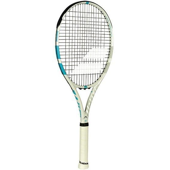 バボラ テニスラケット BF101323 ホワイト×ブルー DRIVE G LITE 2018 ドライブGライト