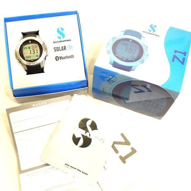 スキューバプロ☆Z1 ソーラー Bluetooth搭載 ブラック/シルバー  保証付|spro-shop-yokohama