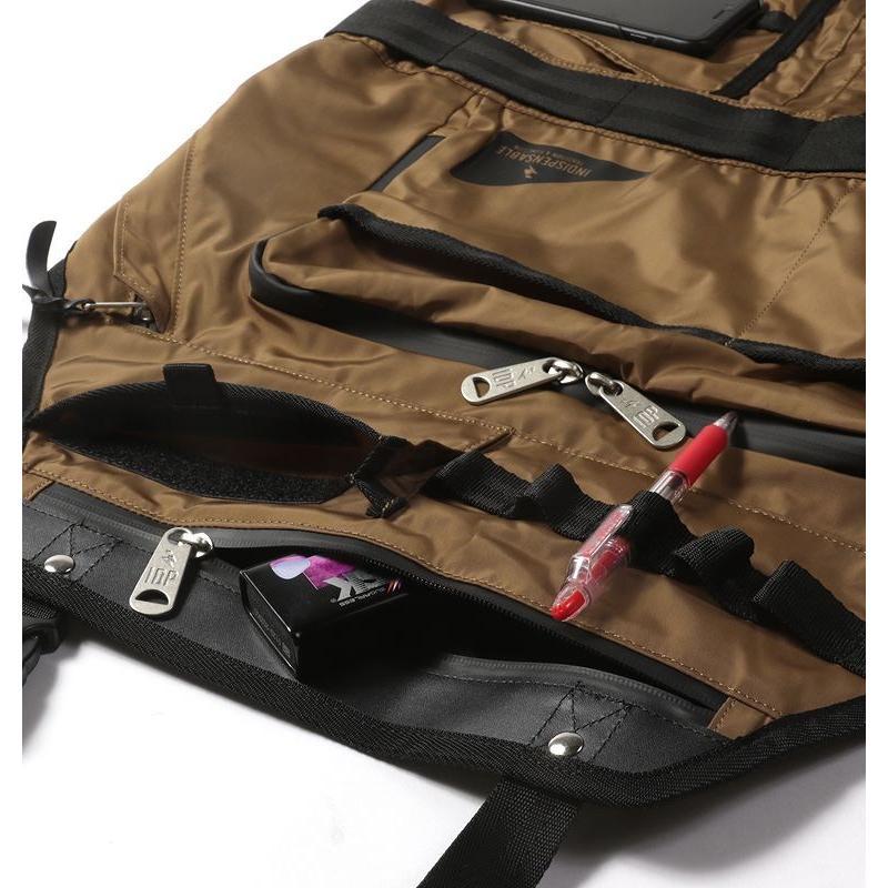 インディスペンサブル 女性 メンズ APRON BAG SKINS エンジニア INDISPENSABLE エプロン ナイロン 男性 レディース エプロン ポケット 多機能