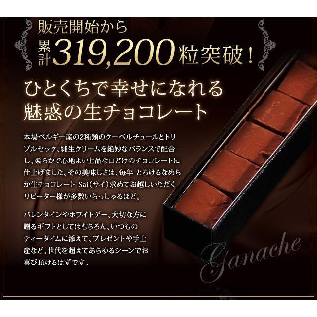 生チョコレート Sai 10粒入(凍) チョコ ギフト 生チョコ チョコレート スイーツ|srr-shop|02