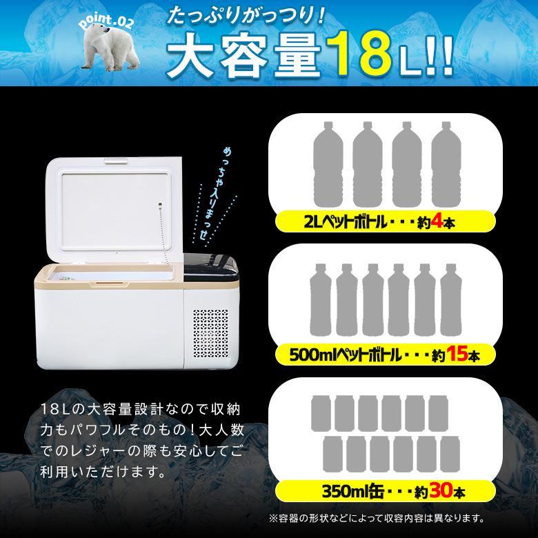 車載冷凍冷蔵庫 20℃〜-25℃ AC/DC ポータブル クーラーボックス 保冷 保温 アウトドア 家庭用 12v 24v 1年保証 シェアスタイル ss-style8 07