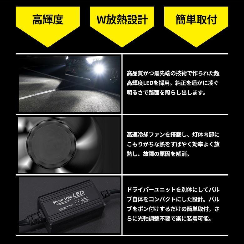 高輝度 LED フォグランプ Zハイパワープレミアムフォグ H8 H11 H16 HB4 シャインゴールド ホワイト LED 1年保証 車検対応 シェアスタイル|ss-style8|06