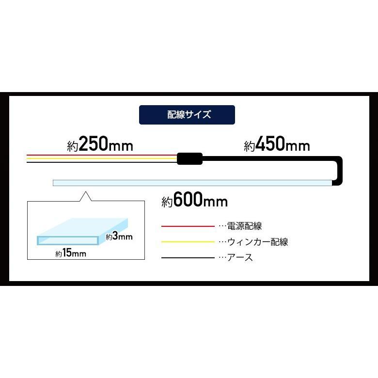 シーケンシャルLEDテープ 流れるウィンカー 60cm 2本1セット シーケンシャルウインカー シェアスタイル|ss-style8|03