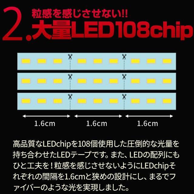 ウインカー専用シーケンシャルLEDテープ 流れる シーケンシャル 極薄 LED シーケンシャルテープ ウィンカー シェアスタイル ss-style8 09
