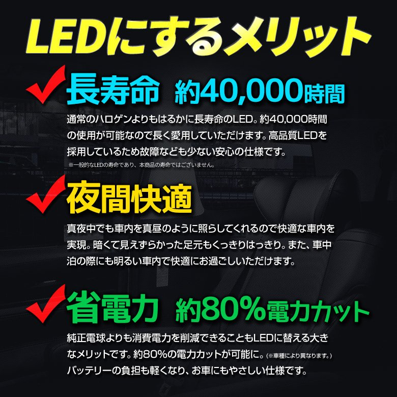RAV4 50系 H31.4〜 専用 クリア加工 LEDルームランプ 2色カラー切り替え 明るさ調整機能付き シェアスタイル|ss-style8|12