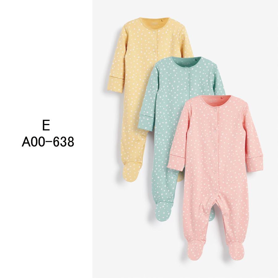 ネクスト  NEXT  ベビー服 ロンパース  3枚パック  女の子 8種類 スリープスーツ カバーオール 足つき 新生児 0-18ヶ月 長袖[衣類]|ssshop|06