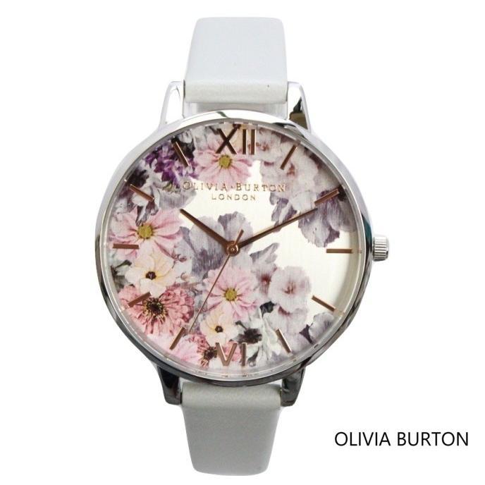 日本初の Olivia Burton オリビアバートン レディース VEGAN FRIENDLY ENCHANTED GARDEN グレー &シルバー 花柄 フローラル ウォッチ 腕時計 本革 レザー クオ, 高畠町 8b300f52