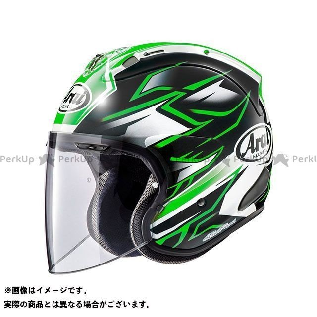 Arai ジェットヘルメット VZ-Ram GHOST(VZ-ラム・ゴースト) グリーン 57-58cm アライ ヘルメット