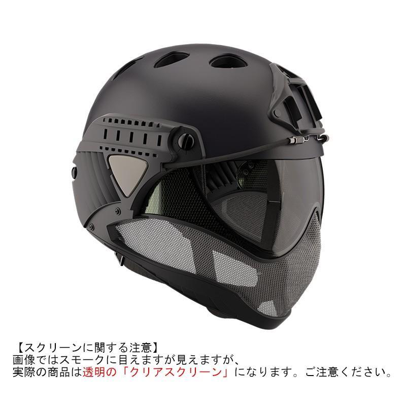 WARQ ヘルメット スタンダード 【BK・クリアスクリーン】|stad|08