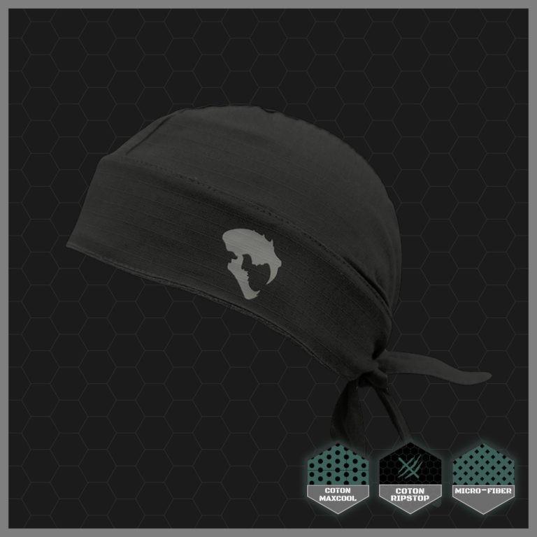 WARQヘルメット用 オリジナルバンダナ ブラック|stad|05