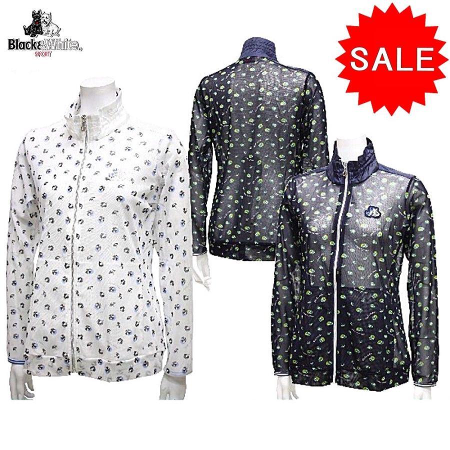 【50%OFF!セール】ブラック&ホワイト / ブラック アンド ホワイト/春夏モデル!/メッシュジャケット/ストレッチ(レディース)