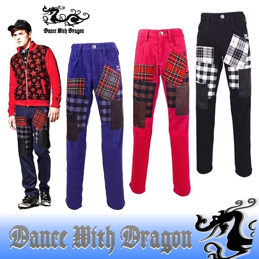 ダンスウィズドラゴン / DANCE WITH DRAGON (秋冬モデル!)ギャバストレッチパッチワークボトム(メンズ)
