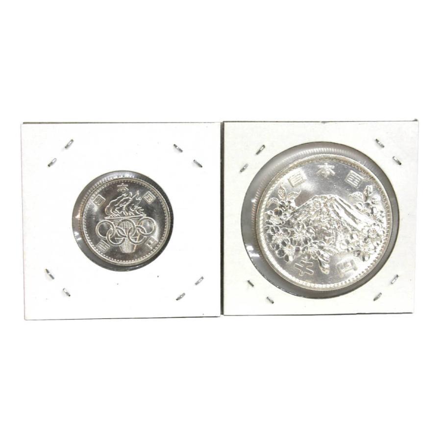 1964年(昭和39年)東京オリンピック 東京五輪 100円銀貨1000円銀貨セット|stamp-coin-ebisu|02