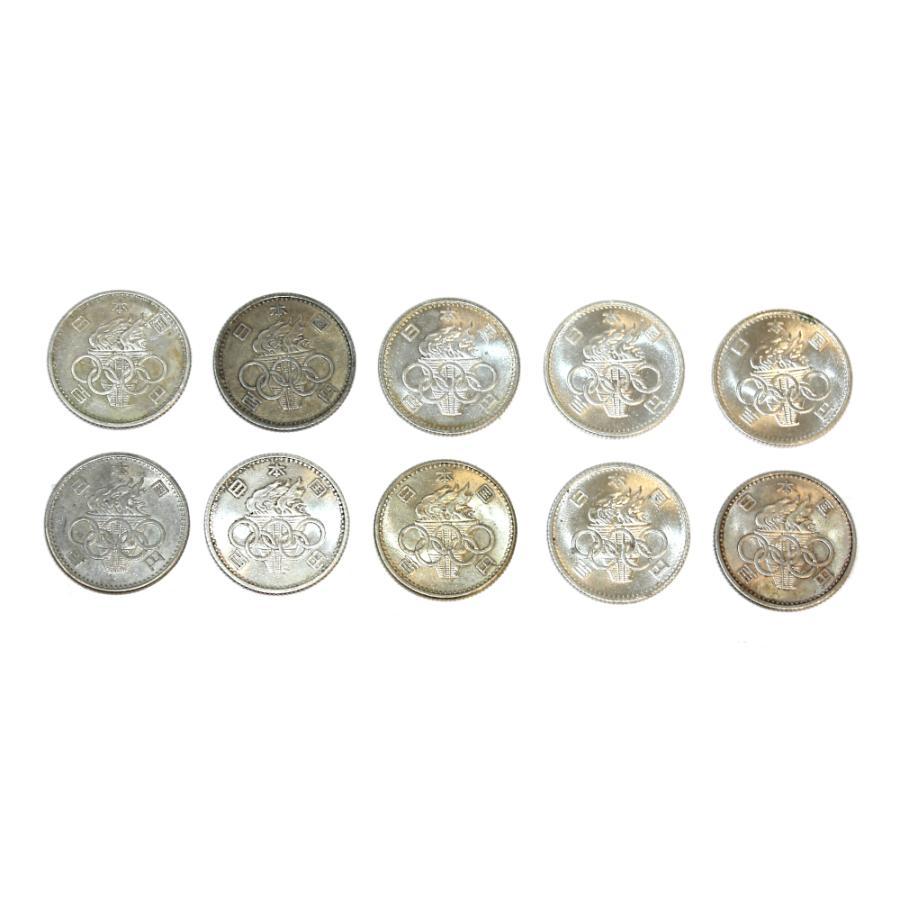 東京オリンピック 東京五輪 100円銀貨 10枚セット 昭和39年  銀を1枚あたり約2.88g 10枚で約28.8g含有!将来有望!|stamp-coin-ebisu|02