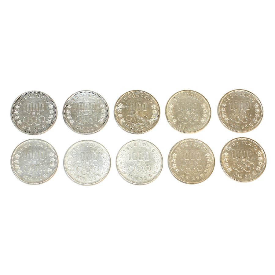 【傷あり特価】東京オリンピック 東京五輪 1000円銀貨 10枚セット 昭和39年 210607 stamp-coin-ebisu