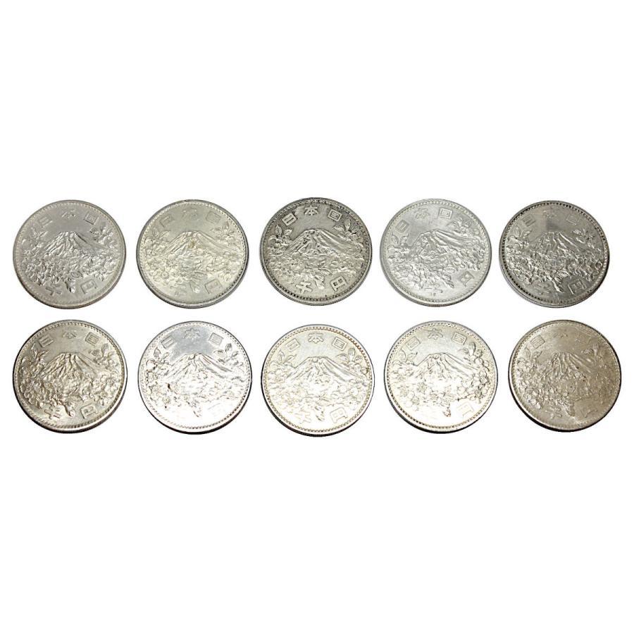 【きず汚れ多めB級品】東京オリンピック 東京五輪 1000円銀貨 10枚セット 昭和39年 210707-2|stamp-coin-ebisu|02