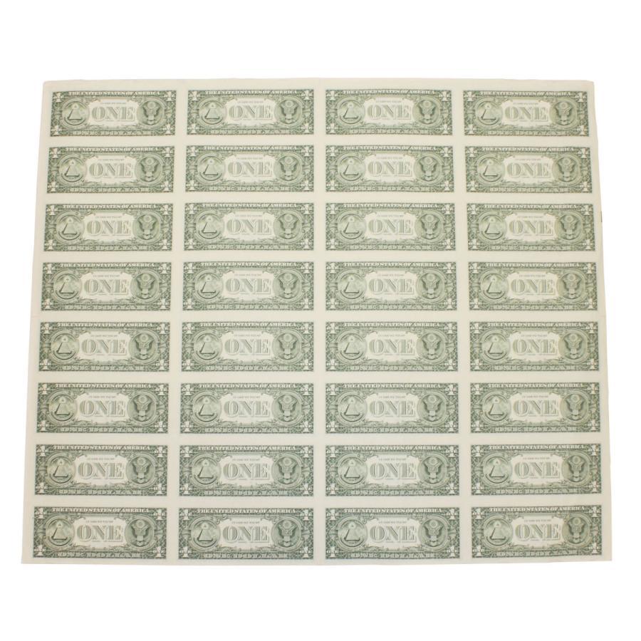 【本物 レア】 アメリカ1ドル紙幣未裁断32面シート(米ドル) stamp-coin-ebisu 02