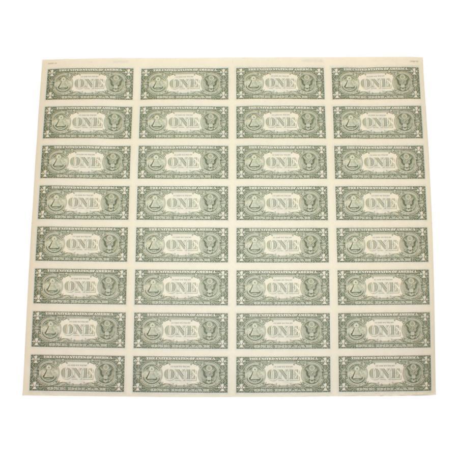 【本物 レア】 アメリカ1ドル紙幣未裁断32面シート(米ドル) stamp-coin-ebisu 07