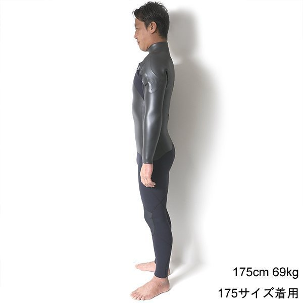 【CRAFTSMAN WETSUITS】 クラフトマンウェットスーツ SEMIDRY 5mm / 3mm セミドライ ウェットスーツ 真冬用 CHESTZIP ラバー 裏起毛 ダブルネック|standardstore|05
