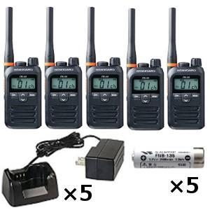 スタンダード 八重洲無線 FTH-314 特定小電力トランシーバー ×5+ FNB-135 ニッケル水素電池 ×5+ SBH-31 急速充電器 ×5セット 無線機 インカム