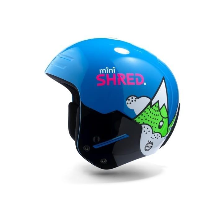 18-19 アジアンフィット SH赤 シュレッド FIS対応 BASHER MINI バッシャー ミニ スキー用フルフェイスヘルメット/