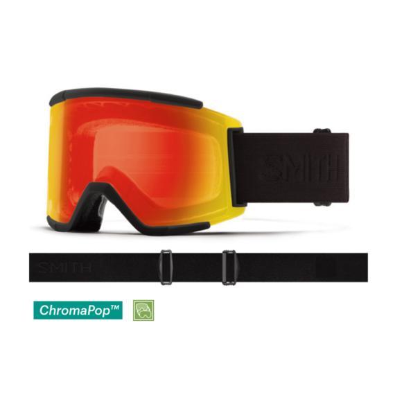 19-20 アジアンフィット SMITH スミス ゴーグル Squad XL スカッド XL Photochromic 赤 Mirror 調光&Clear フラットレンズデザイン スキー スノーボード*