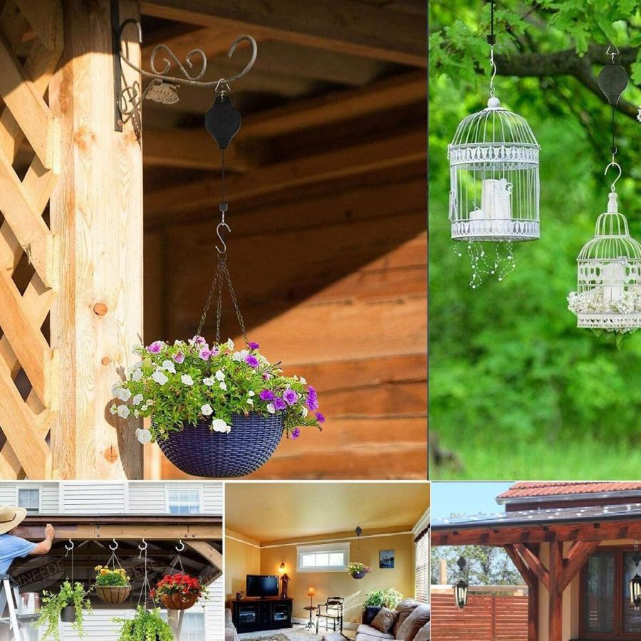 吊り下げ ハンガー 吊り下げフック 伸縮 プランター 吊りスタンド屋外 屋内 植物  観葉植物 送料無料 staraba 05