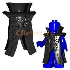 レゴ LEGO カスタムパーツ ばら売り パイレーツコート(互換品):ブラック|starbrick37-lego