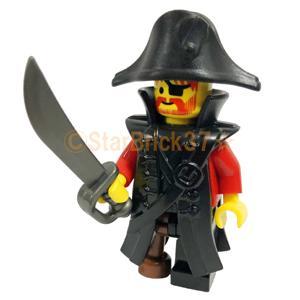 レゴ LEGO カスタムパーツ ばら売り パイレーツコート(互換品):ブラック|starbrick37-lego|04