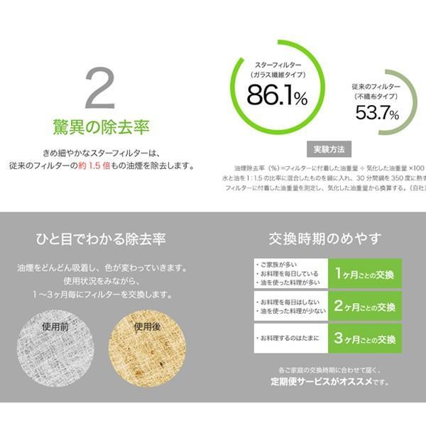 スターフィルター レンジフードフィルター 交換用 6枚 [292x265mmサイズ] 不燃性のガラス繊維タイプ 通気性が良く長持ち 除去率86.1%インスタで話題|starfilter|09