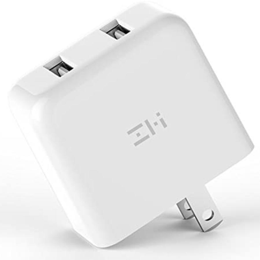 【日本正規代理店】 ZMI HA622 ACアダプタ USB急速充電器 2ポート 18W 3.6A コンセント PSE認証済 QC3.0対応 折畳式プラグ 超コンパクトサイト 軽量 18ヶ月保証|starq-online|02